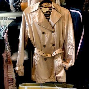 Sassy Michael Kors gold Trench coat beautiful